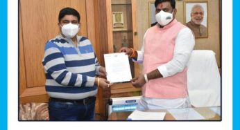 Protem Speaker and Agriculture Minister Citation given to J K hospital ( L N Medical College)