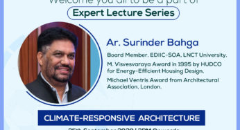 Expert Lecture on Climate Responsive Architecture