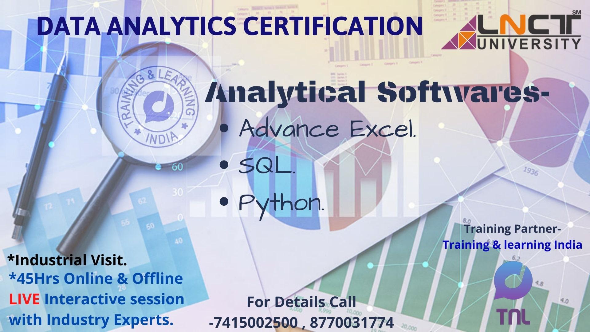 analytics data certification certificate