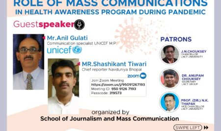 Webinar on Role of Mass Communication in Health Awareness Program During Pandemic