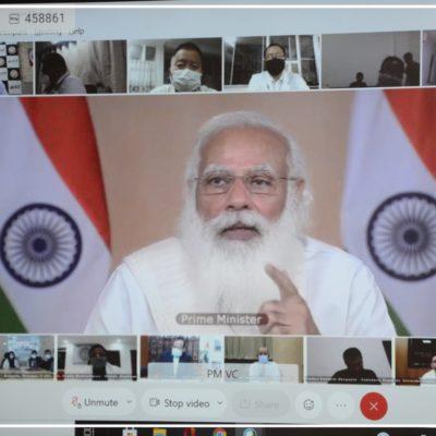 J K hospital Doctors participated in the interactive session with Prime Minister Shri Narendra Modi (1)