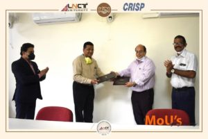 LNCT University , Bhopal and CRISP, Bhopal on wednesday signed a memorandum of understanding (MoU)2