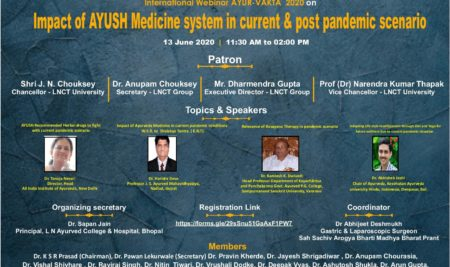 International Webinar on Medico Legal Aspect in Current Scenario and post Pandemic Rehabilitation through Ayurveda