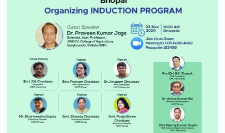 School of Agriculture Science Organizing Online Virtual Induction Program
