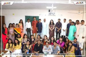 School of Legal Studies has celebrated the Traditional Day in the festive occasion of Nav-Ratri festival.