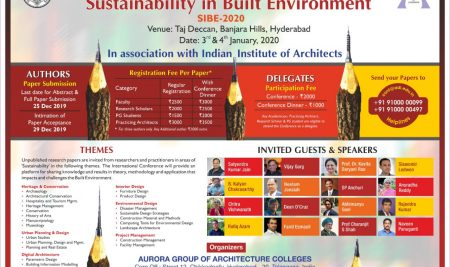 Sustainability in Built Environment | SIBE -2020