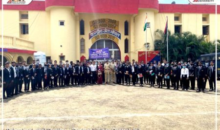 The School of Legal Studies organized a visit to the Central Jail