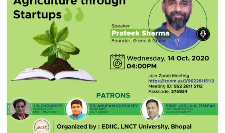 Webinar On Rebooting Indian Agriculture Through Startup
