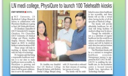 LN Medical College Bhopal & Indore, in collaboration with PhysiQure Healthcare
