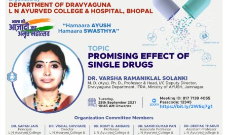 National Webinar on Promising Effects of Single Drugs