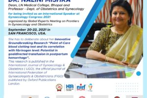 invited as an International Speaker at Gynaecology