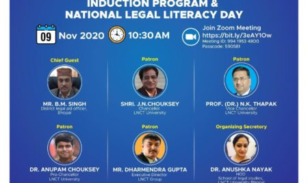 School of Legal Studies Induction Program Organized For The Occasion Of National Legal Literacy Day