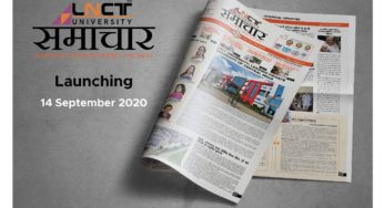 LNCT University News Paper was Launched on the Occasion of Hindi Diwas