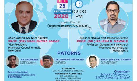 National Webinar on the occasion of WorldPharmacistsDay | School of Pharmacy